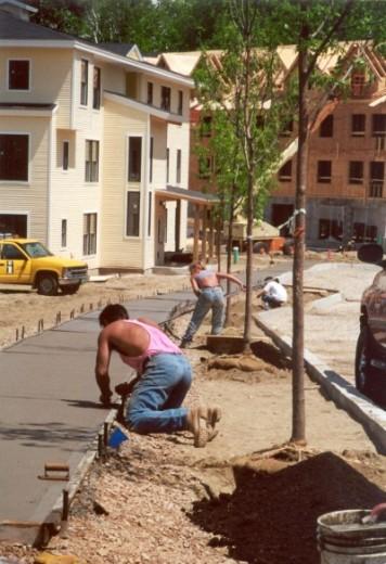 sidewalk paving. photo by Wayne Senville.
