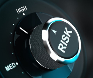 graphic with the word Risk