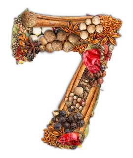 graphic of the number 7
