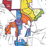 small portion of Chatham Park land use plan map.