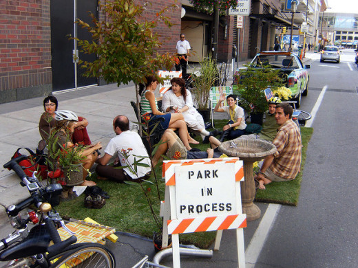 Park(ing) Day photo in Minneapolis, by SV Johnson (Flickr Creative Commons license)