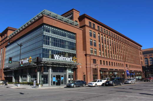 View of Walmart on H Street, NW in Washington, DC. Photo by Edward McMahon.