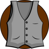 illustration of a man's vest