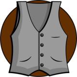 illustration of a man's vest