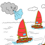 Sailboats in a breeze. Illustration by Marc Hughes for PlannersWeb