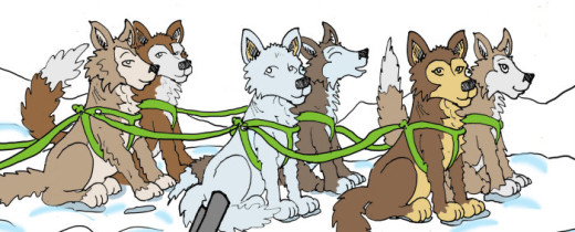 Illustration by Marc Hughes for PlannersWeb - dog sled