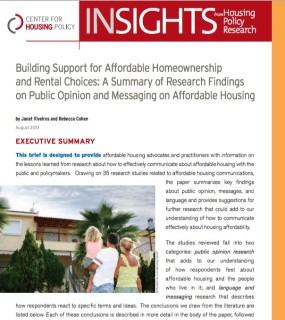 Cover page of Building Support report