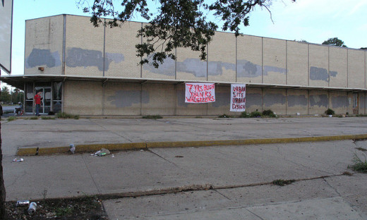Blight doesn't just affect residential properties. Abandoned stores can cast a pall over nearby neighborhoods. Photo by Bart Everson; Flickr Creative Commons License. For more details about the photo click on the image.