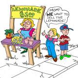Marc Hughes illustration of lemonade stand for PlannersWeb