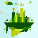 Illustration of a healthy green city