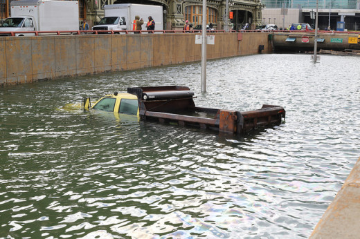 One of New York City's major arteries, the Battery Tunnel  between Manahattan and Brooklyn was flooded by Hurricane Sandy. Photo by Timothy Krause, Flickr Creative Commons license.
