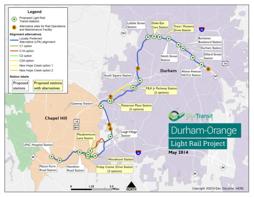 D-O LRT plan map