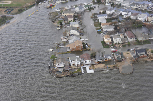 Areas of Long Island, N.Y., shown during a Coast Guard overflight on Oct. 30, 2012.