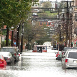 Hoboken street flooding. Photo by Accarrino; Flickr Creative commons license.
