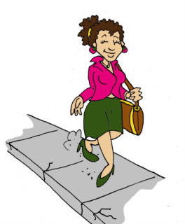 Young woman walking. Illustration by Marc Hughes for PlannersWeb