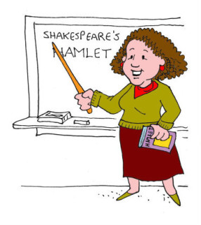 Della as teacher. Illustration by Marc Hughes for PlannersWeb