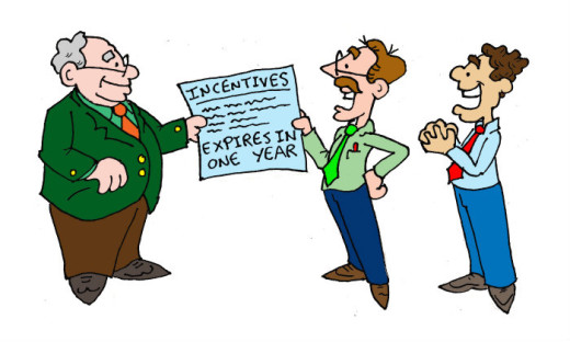 Illustration by Marc Hughes for PlannersWeb - Incentives Expire in One Year