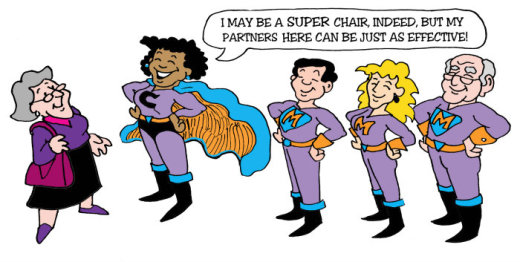 Illustration by Marc Hughes for PlannersWeb - planning commission leadership.