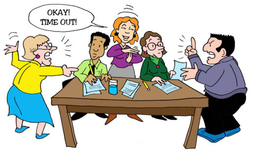Illustration by Marc Hughes for PlannersWeb - dealing with difficult people.