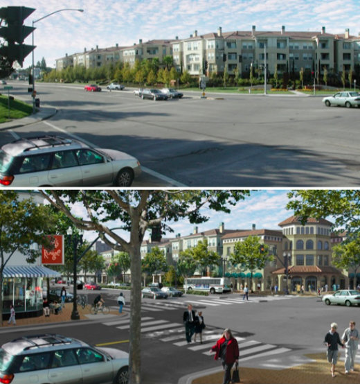 street comparison - with and without form-based code